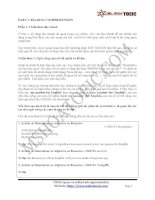 Chiến thuật làm bài Part 7-Reading comprehension