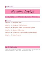 Machine design  IES GATE IAS 20 years question and answers by s k mondal