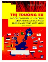 Thị trường EU các quy định pháp lý liên quan đến chính sách sản phẩm trong marketing xuất khẩu