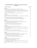 TRẮC NGHIỆM SINH lý  CHỨC NĂNG vận ĐỘNG hệ THẦN KINH TRUNG ƯƠNG
