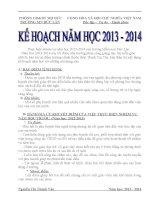 Kế hoạch năm học 2014 trường mầm non