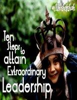 Ten steps to attain extraordinary leadership