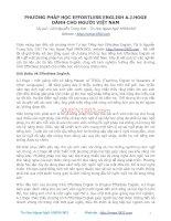 PHƯƠNG PHÁP HỌC EFFORTLESS ENGLISH A.J.HOGE DÀNH CHO NGƯỜI VIỆT NAM