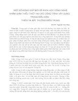 MỘT SỐ ĐÓNG GÓP MỚI VỀ KHOA HỌC CÔNG NGHỆ NHẰM GIẢM THIỂU THIỆT HẠI CÁC CÔNG TRÌNH XÂY DỰNG TRONG ĐIỀU KIỆN THIÊN TAI BẤT THƯỜNG MIỀN TRUNG