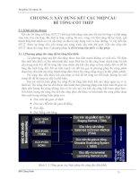 Chương III  Xây dựng kết cấu nhịp cầu BTCT  ĐH kinh tế xây dựng