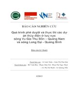 Quá trình phê duyệt và thực thi các dự án thủy điện ở lưu vực sông Vu Gia Thu Bồn – Quảng Nam và sông Long Đại - Quảng Bình