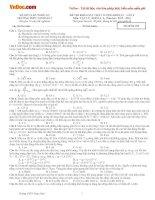 Đề thi khảo sát chất lượng môn Vật lý lớp 12 có đáp án