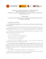 ĐÁNH GIÁ TÌNH HÌNH KINH TẾ - XÃ HỘI 03 HUYỆN PHƯỚC SƠN, HIỆP ĐỨC, DUY XUYÊN THUỘC DỰ ÁN PHÁT TRIỂN KINH TẾ XÃ HỘI CÓ LỒNG GHÉP GIỚI TỈNH QUẢNG NAM