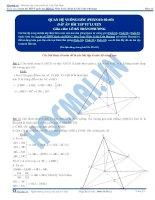 Đáp án Bài tập tự luyện quan hệ vuông góc phần 1