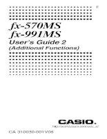 Hướng dẫn sử dụng máy tính bỏ túi  fx 570ms