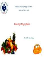 thuyết trình hóa học thực phẩm