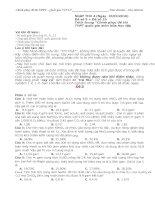 Chinh phục đề thi THPT quốc gia môn Hóa Học (2 đề thi hay chọn lọc)