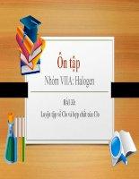ôn tập nhóm VIIA halogen bài 33 luyện tập về clo và hợp chất của clo