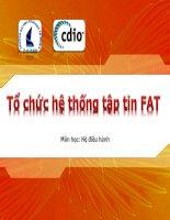 Bài giảng môn học hệ điều hành tổ chức hệ thống tập tin FAT (đh khoa học tự nhiên)
