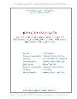 MỘT SỐ GIẢI PHÁP TRONG TUYỂN CHỌN VÀ BỒI DƯỠNG HỌC SINH GIỎI THỂ DỤC THỂ THAO TRƯỜNG THPT GIAO THỦY