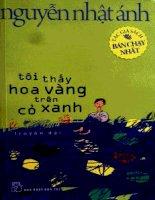 Tôi thấy hoa vàng trên cỏ xanh  Nguyễn Nhật Ánh