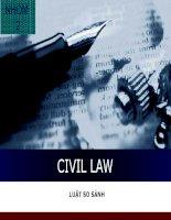 Thuyết trình Tiểu luận môn luật so sánh Hệ thống pháp luật dân luật Civil Law System