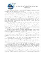 Bài viết về chủ đề sự ra đời của hội liên hiệp phụ nữ việt nam 20 10 1930