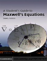 a students guide to maxwells equations