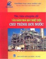 Tài liệu chuyên đề vận hành nhà máy nhiệt điện chu trình hơi nước