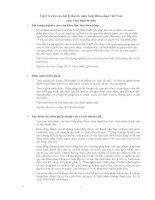 Gợi ý trả lời câu hỏi lý thuyết môn luật hiến pháp