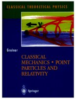 Greiner   classical mechanics, point particles and relativity 3470
