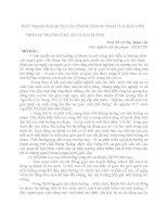 THỰC TRẠNG GIẢI QUYẾT các TÌNH HUỐNG sư PHẠM của GIÁO VIÊN THPH HAI TRƯỜNG ở hà nội và hải DƯƠNG