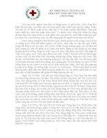Bài viết về chủ đề kỷ niệm ngày thành lập hội chữ thập đỏ VN 23 11 1946