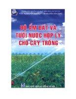 Độ ẩm đất và tưới nước hợp lý cho cây trồng
