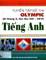 Tuyển tập đề thi olympic 30 4 môn tiếng anh 10