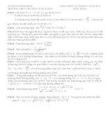 Đề thi thử môn toán trường THPT Chuyên Lê Quý Đôn - Bình Định lần 1 năm 2015