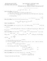 Đề thi thử môn toán thpt Quốc Gia 2016 của Trường THPT Yên Mỹ - Hưng Yên (có đáp án)