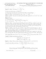 Đề thi thử môn toán trường THPT Đức Thọ - Hà Tĩnh lần 1 năm 2016