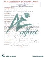 Bộ đề THPT quốc gia môn toán và lời giải chi tiết