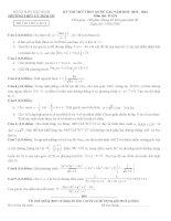 Đề thi thử môn toán trường THPT Lý Thái Tổ - Bắc Ninh lần 2 năm 2016