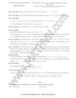 Đề thi thử THPT quốc gia môn toán năm 2016 Trường THPT chuyên Vĩnh Phúc