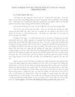 KINH NGHIỆM TỔ CHỨC BỒI DƯỠNG KĨ NĂNG SƯ PHẠM CHO GIÁO VIÊN