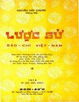 Lược Sử Báo Chí Việt Nam (NXB Nam Sơn 1974)  Nguyễn Việt Chước