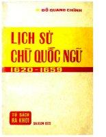 Lịch Sử Chữ Quốc Ngữ 16201659  Đỗ Quang Chính