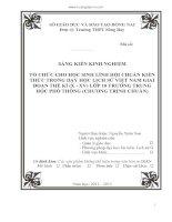 TỔ CHỨC CHO HỌC SINH LĨNH HỘI CHUẨN KIẾN THỨC TRONG DẠY HỌC LỊCH SỬ VIỆT NAM GIAI ĐOẠN THẾ KỈ (X - XV) LỚP 10 TRƯỜNG TRUNG HỌC PHỔ THÔNG (CHƯƠNG TRÌNH CHUẨN)