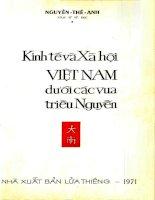 Kinh Tế Và Xã Hội Việt Nam Dưới Các Vua Triều Nguyễn  Nguyễn Thế Anh,