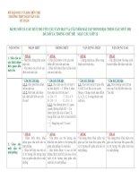 Bản mô tả kiến thức CHỦ đề  mặt cầu lớp 12
