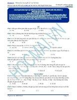 Ôn thi đại học môn sinh các dạng bài tập cụ thể hay xuất hiện trong đề thi (phần 1)