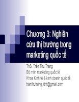 Slide Marketing quốc tế chương 3: Nghiên cứu thị trường trong marketing quốc tế Slide Marketing quốc tế chương 3: Nghiên cứu thị trường trong marketing quốc tế
