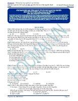Ôn thi đại học môn sinh các dạng bài tập tổng quát về các quy luật di truyền (phần 4)