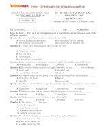 Bộ đề thi thử THPT quốc gia năm 2016 môn tiếng anh   số 4