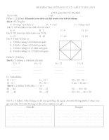 đề ôn tập giữa kỳ 2 lớp 1