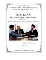Tiểu luận môn đạo đức kinh doanh hệ thống đạo đức kinh doanh toàn cầu