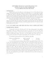 GIỚI THIỆU NỘI DUNG VÀ PHƢƠNG PHÁP TÍNH CHỈ SỐ SẢN XUẤT CÔNG NGHIỆP (IIP) VÀ LỘ TRÌNH CÔNG BỐ CHỈ SỐ IIP