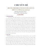 PHƯƠNG PHÁP RÈN LUYỆN KĨ NĂNG LÀM VĂN MIÊU TẢ CẢNH CHO HỌC SINH LỚP 6